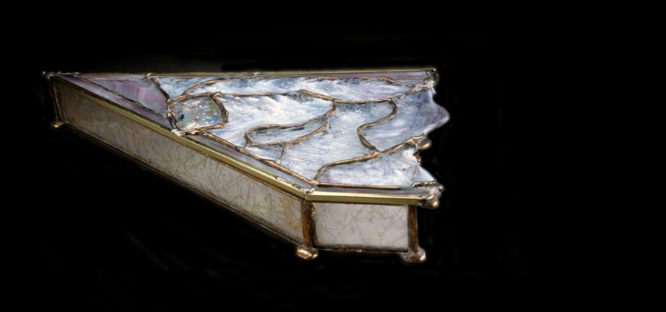 Glass Work Handmade Oceana Jewelry Box
